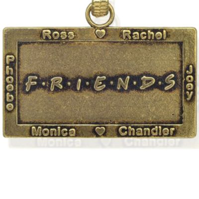 Personalized Jewelry: Faith & Family: Yellow Gold-Tone Angelica Friends Logo Expandable Bangle
