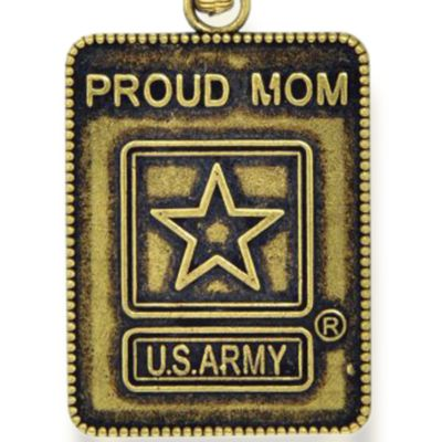 Personalized Jewelry: Military: Yellow Gold-Tone Angelica Proud Army Mom Expandable Bangle