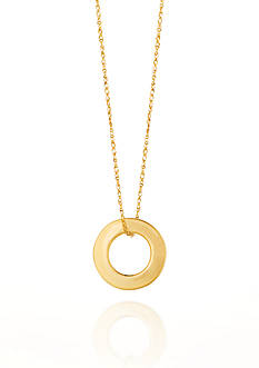 Belk & Co. 14k Yellow Gold Circle Pendant