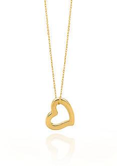 Belk & Co. 14k Yellow Gold Heart Pendant