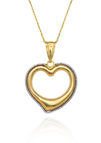 Belk & Co. Heart Pendant in 14k Yellow Gold