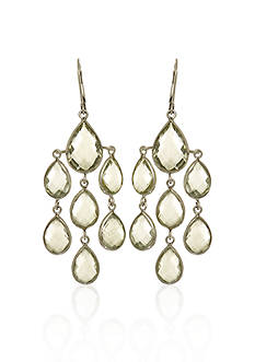 Phillip Gavriel® Sterling Silver Green Amethyst Earrings