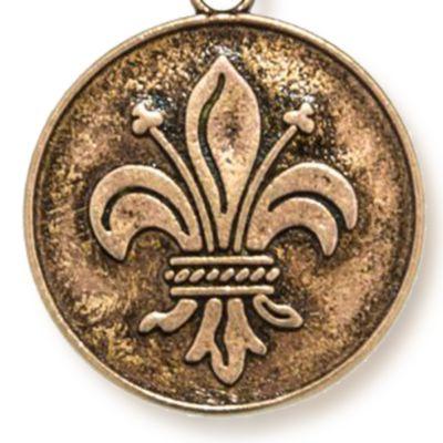 Personalized Jewelry: Symbols: Rose Gold-Tone Angelica Fleur de Lis Expandable Bangle