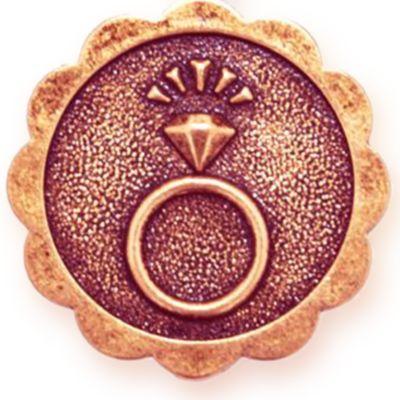 Wedding Jewelry: Bracelets: Rose Gold-Tone Angelica Engaged Expandable Bangle
