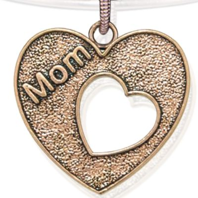 Personalized Jewelry: Faith & Family: Rose Gold-Tone Angelica Mom Heart Expandable Bangle