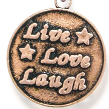 Personalized Jewelry: Inspirational: Rose Gold-Tone Angelica Live Love Laugh Expandable Bangle