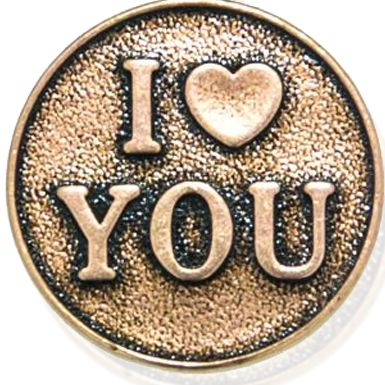 Personalized Jewelry: Inspirational: Rose Gold-Tone Angelica I Love You Expandable Bangle