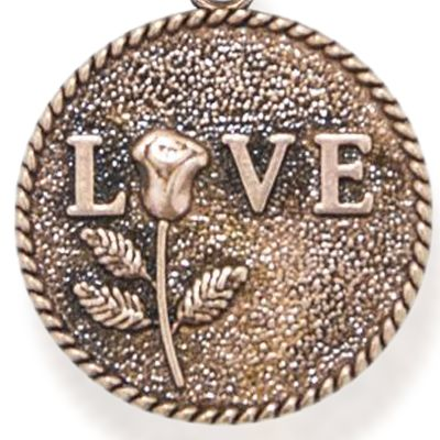 Personalized Jewelry: Inspirational: Rose Gold-Tone Angelica Love Rose Expandable Bangle