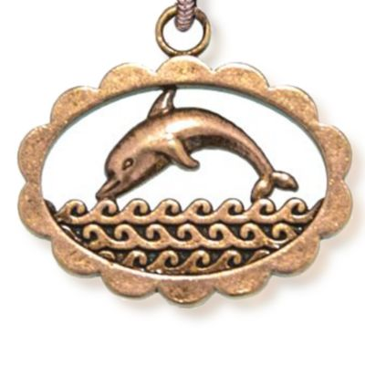 Personalized Jewelry: Animals & Critters: Rose Gold-Tone Angelica Dolphin Expandable Bangle