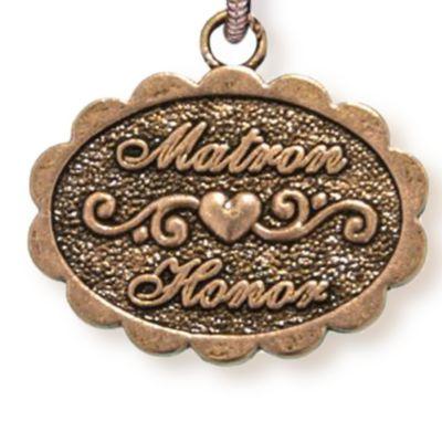 Personalized Celebration Bangles: Rose Gold-Tone Angelica Matron of Honor Expandable Bangle