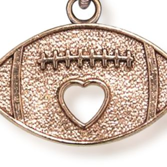 Personalized Jewelry: Sports & Hobbies: Rose Gold-Tone Angelica Football Expandable Bangle