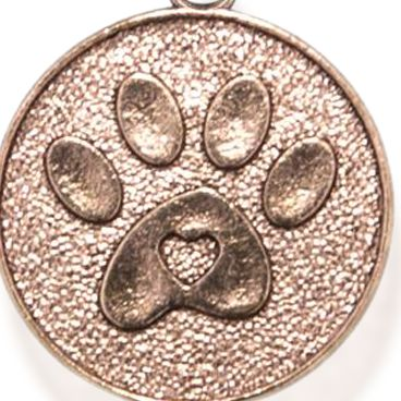 Personalized Jewelry: Animals & Critters: Rose Gold-Tone Angelica Paw Print Expandable Bangle