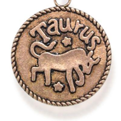 Personalized Jewelry: Zodiac: Rose Gold-Tone Angelica Taurus Expandable Bangle