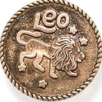 Personalized Jewelry: Zodiac: Rose Gold-Tone Angelica Leo Expandable Bangle