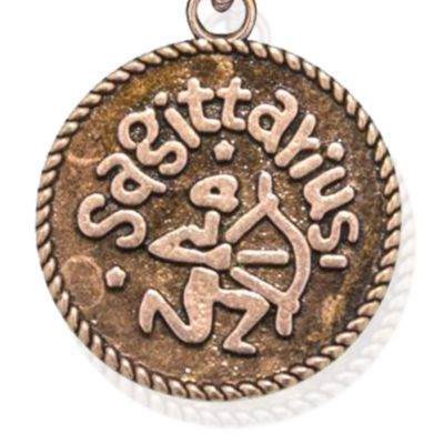 Personalized Jewelry: Zodiac: Rose Gold-Tone Angelica Sagittarius Expandable Bangle