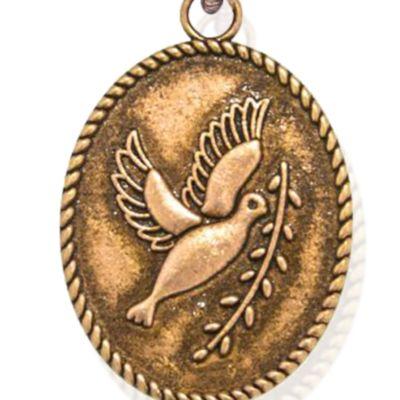 Animal Instincts: Bracelets: Rose Gold-Tone Angelica Peace Dove Expandable Bangle