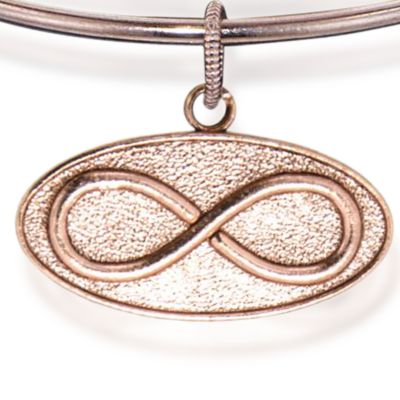 Personalized Jewelry: Symbols: Rose Gold-Tone Angelica Infinity Expandable Bangle