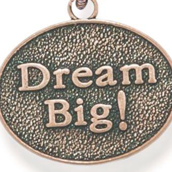 Personalized Jewelry: Symbols: Rose Gold-Tone Angelica Dream Big Expandable Bangle