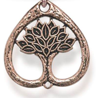 Personalized Jewelry: Symbols: Rose Gold-Tone Angelica Tree of Life Expandable Bangle