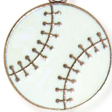 Personalized Jewelry: Sports & Hobbies: Rose-Gold Tone Angelica Baseball Expandable Bangle