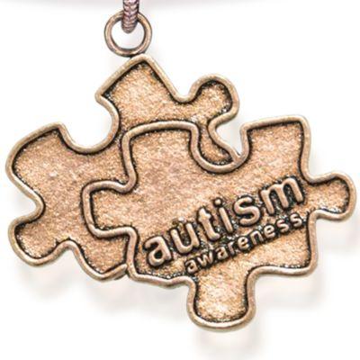 Personalized Jewelry: Symbols: Rose Gold-Tone Angelica Autism Awareness Expandable Bangle