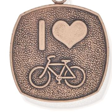 Personalized Jewelry: Sports & Hobbies: Rose Gold-Tone Angelica I Love to Bike Expandable Bangle