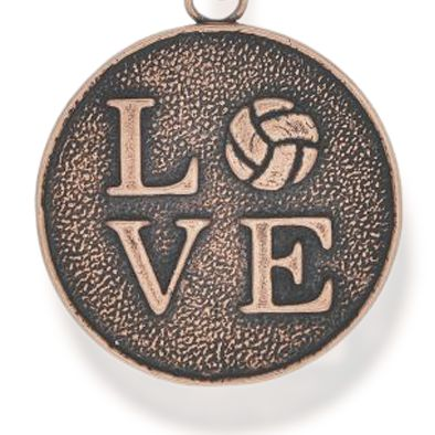 Personalized Jewelry: Symbols: Rose Gold-Tone Angelica Volleyball Love Expandable Bangle