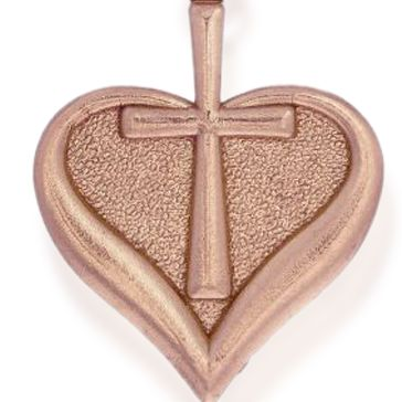 Charm Bracelets: Rose Gold-Tone Angelica Heart and Cross Expandable Bangle