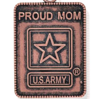 Personalized Jewelry: Military: Rose Gold-Tone Angelica Proud Army Mom Expandable Bangle