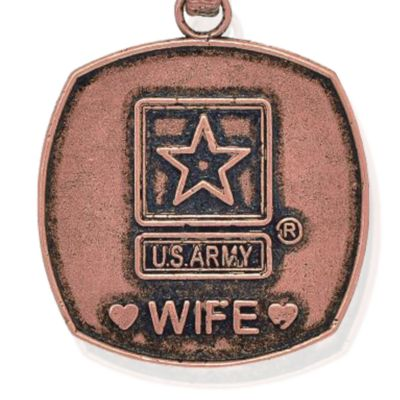 Personalized Jewelry: Military: Rose Gold-Tone Angelica United States Army Wife Expandable Bangle