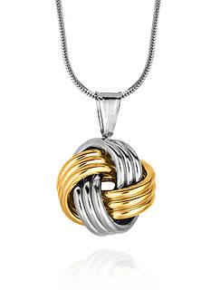 Belk & Co. Sterling Silver Love Knot Pendant