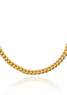 Belk & Co. 14k Yellow Gold Square Franco Necklace