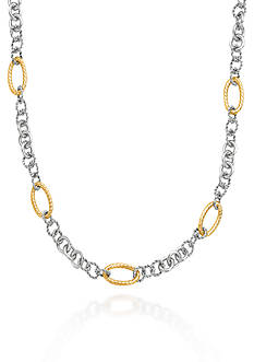 Phillip Gavriel® Sterling Silver with 18k Yellow Gold Necklace