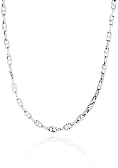 Belk & Co. Stainless Steel Bullet Link Necklace