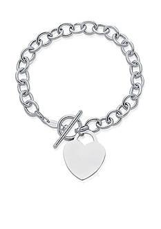 Phillip Gavriel® 14k White Gold Heart Bracelet