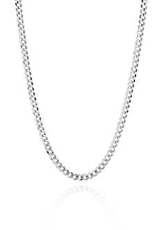 Belk & Co. 14k White Gold Curb Link Necklace
