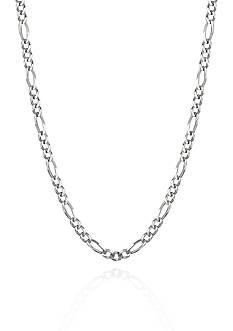 Belk & Co. 14k White Gold Figaro Necklace