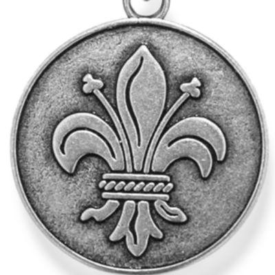 Personalized Jewelry: Symbols: Silver-Tone Angelica Fleur de Lis Expandable Bangle