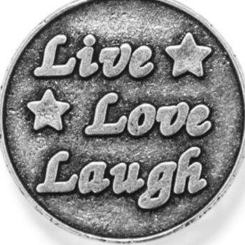Personalized Jewelry: Inspirational: Silver-Tone Angelica Live Love Laugh Expandable Bangle