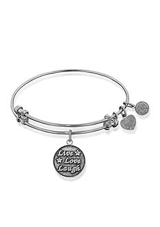Angelica Live Love Laugh Expandable Bangle