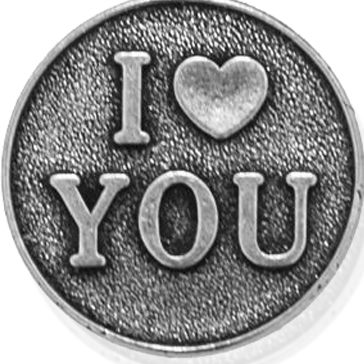 Personalized Jewelry: Inspirational: Silver-Tone Angelica I Love You Expandable Bangle