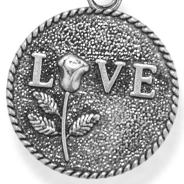 Personalized Jewelry: Inspirational: Silver-Tone Angelica Love Rose Expandable Bangle