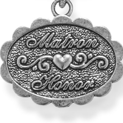 Personalized Celebration Bangles: Silver-Ton Angelica Matron of Honor Expandable Bangle