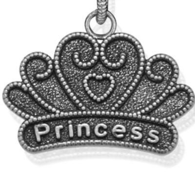 Personalized Jewelry: Symbols: Silver-Tone Angelica Princess Expandable Bangle