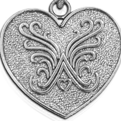 Personalized Jewelry: Symbols: Silver-Tone Angelica Logo Expandable Bangle