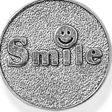 Personalized Jewelry: Symbols: Silver-Tone Angelica Smile Expandable Bangle