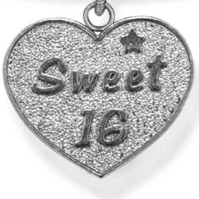 Personalized Celebration Bangles: Silver-Tone Angelica Sweet 16 Expandable Bangle