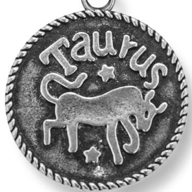 Personalized Jewelry: Zodiac: Silver-Tone Angelica Taurus Expandable Bangle