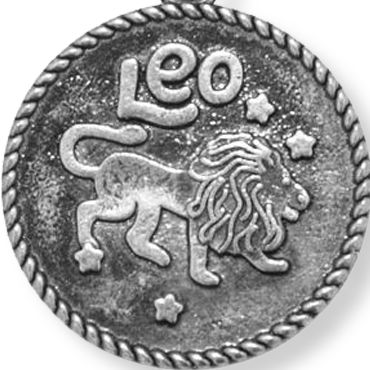 Personalized Jewelry: Zodiac: Silver-Tone Angelica Leo Expandable Bangle