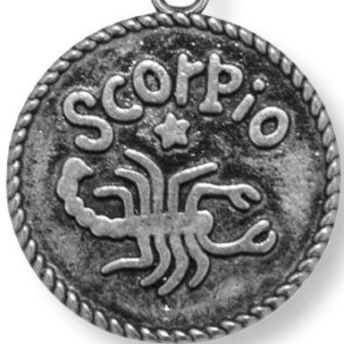 Personalized Jewelry: Zodiac: Silver-Tone Angelica Scorpio Expandable Bangle